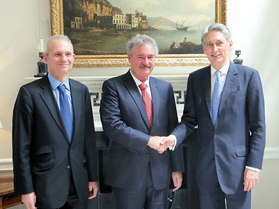 David Lidington, Jean Asselborn and Philip Hammond (l.t.r.)