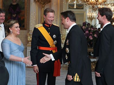 23.06.2014 luxembourg, Palais Grand-Ducal, Receiving line, Nationalfeiertag, f�te nationale luxembourgeoise, Grand-Duchesse Maria Th�resa, Grand-Duc Henri, Xavier Bettel et son �poux photo Anouk Antony