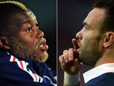Undurchsichtige Erpressungsgeschichte: Cissé (l. ) und Valbuena.