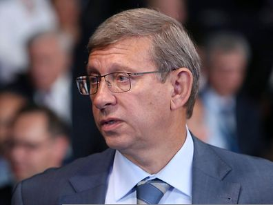 Chairman of conglomerate Sistema Vladimir Evtushenkov at the St. Petersburg International Economic Forum 2014