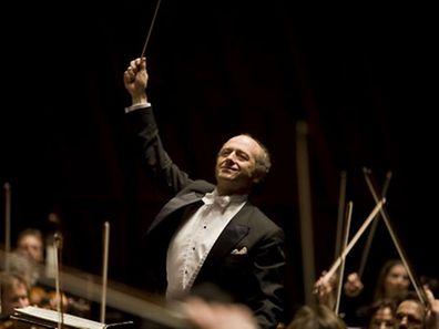 Iván Fischer is seen conducting during a 2010 concert