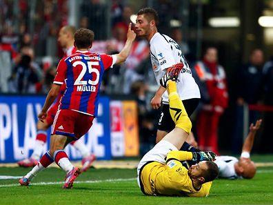 Paderborn am Boden, Bayern München obenauf: Im Spiel am Dienstag waren die Kräfteverhältnisse deutlich.