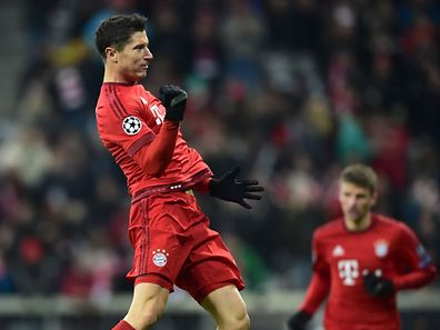 Robert Lewandowski traf erneut für den FC Bayern.