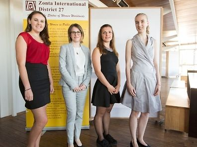 The four winners of the 2015 Zonta Young Women in Public Affairs prize.