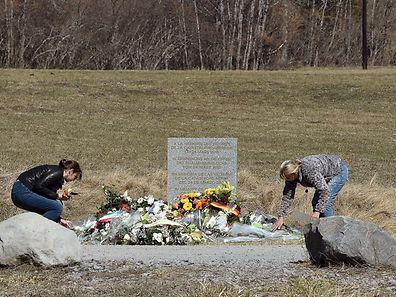 A memorial for the victims of the Germanwings plane crash in Le Vernet