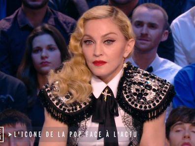 """Madonna hatte Tränen in den Augen, als sie über """"Charlie Hebdo""""sprach."""