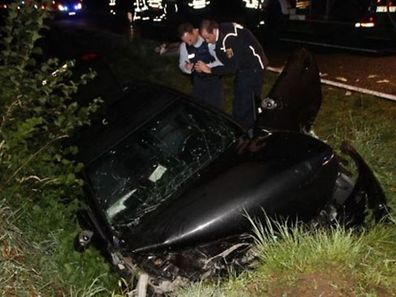 The scene of a crash on Sunday night in which one person died