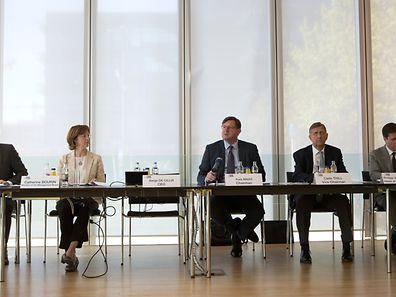 La direction de l'ABBL... sans Serge de Cillia, son CEO, occupé par la réunion tripartite pendant le début de l'exposé.