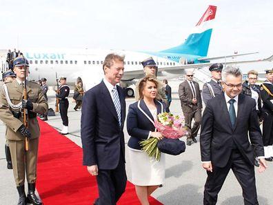 Les visites d'Etat comme ici en Pologne sont réglés via le budget ordinaire de l'Etat. Le poste pour 2015 vient d'augmenter de 397.226 euros par rapport à 2014.