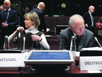 Maria Luís Albuquerque e Schäuble