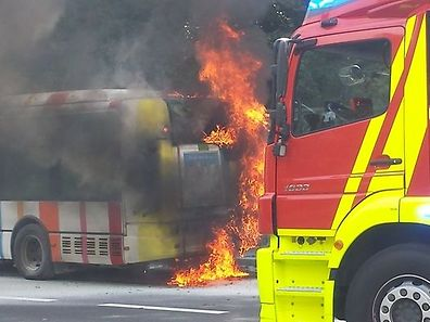 A bus caught fire in Luxembourg City on July 30
