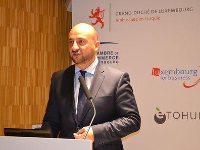 Economy Minister Etienne Schneider during the ICT seminar in Istanbul, Turkey.
