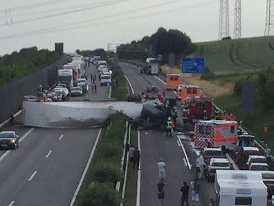 L'A1 a dû être totalement fermée depuis la sortie Mertert.