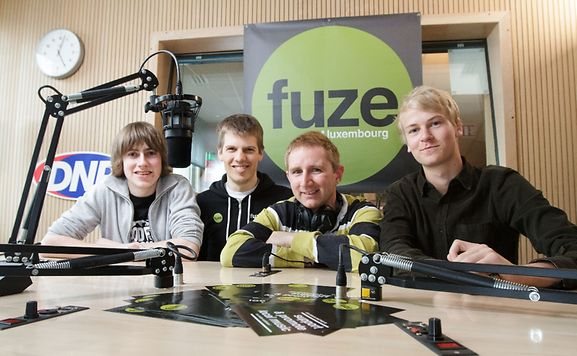 Chris, Daniel, Adam & Julius make up the FUZE team