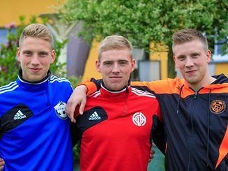 Christian, Laurent et Daniel (de gauche à droite). La famille Jans réunie!