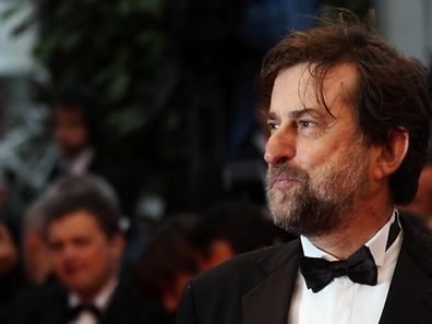 Director and jury president Nanni Moretti arrives for the screening of Love at the 65th international film festival, in Cannes, southern France, Sunday, May 20, 2012. (AP Photo/Joel Ryan)
