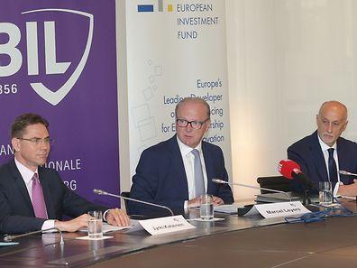 Le vice-président de la Commission européenne, Jyrki Katainen, était de passage au Luxembourg ce vendredi et a fait un crochet par les locaux de la BIL.