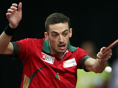 Portugal's table tennis player Marcos Freitas playing against german Timo Boll and giving his team the gold medal on Men's Championships Division final, today's 28th september 2014 in the TMS Table Tennis Team Championships in the Meo Arena in Lisbon. TIAGO PETINGA/LUSA