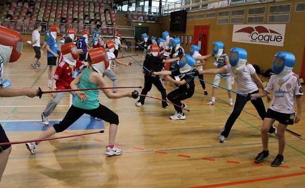14 Sportföderationen haben die Möglichkeit, bei den Kindern für ihre Sportart zu werben.