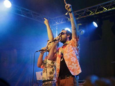 Les rappers de De Läb sont l'atout gaieté de la programmation musicale du festival.
