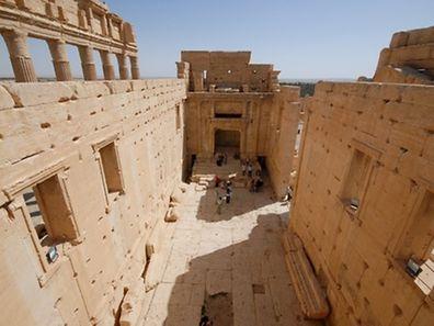 Die historische Tempelstadt Palmyra auf Fotos von 2010. Der IS hat den Baaltempel und seine Umgebung zerstört.