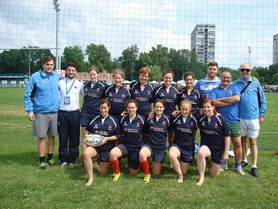 Luxembourg's women's Rugby 7s team in Zagreb, Croatia