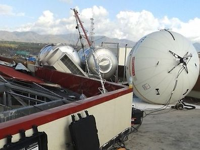 An emergency.lu unit in the Philippines, used in the wake of typhon Haiyan