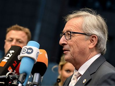 EU-Kommissionspräsident Jean-Claude Juncker beantwortete vor dem Gipfel Fragen von Journalisten.