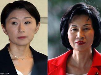 A ministra da Justiça japonesa, Midori Matsushima (à direita), demitiu-se esta segunda-feira, horas depois da demissão da ministra da Indústria, Yuko Obuchi.
