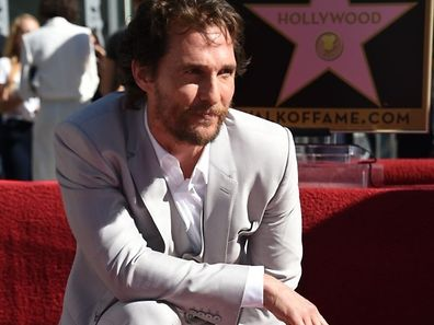 Actor Matthew McConaughey is honored with the 2,534th star on the Hollywood Walk of Fame, November 17, 2014 in Hollywood, California.