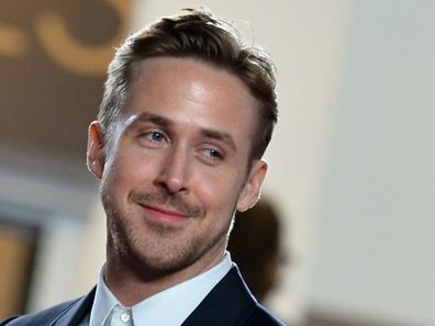 """Canadian actor Ryan Gosling smiles as he arrives for the screening of the film """"Lost River"""" at the 67th edition of the Cannes Film Festival"""