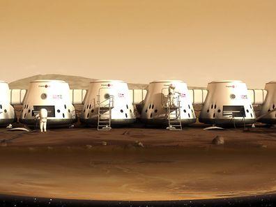 Une représentation virtuelle des modules qui seront installés sur Mars.