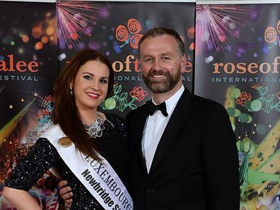 Luxembourg Rose Niamh Bergin pictured with RTE's Dáithí Ó Sé