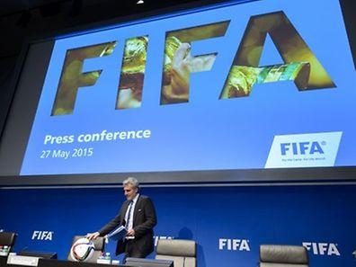 Fifa-Sprecher Walter De Gregorio trat am Mittwochmittag vor die vereinte Presse.