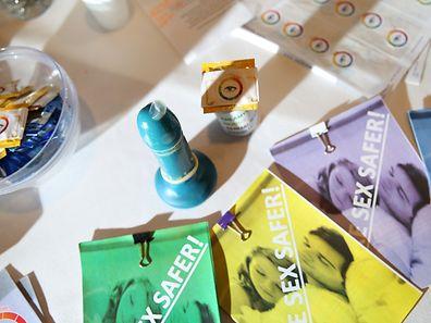 Le préservatif S.T. EYE change de couleur lors de la détection d'une maladie sexuellement transmissible.