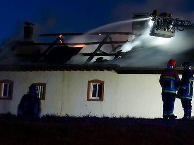 Das Dach wurde beim Brand völlig zerstört.