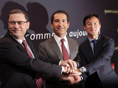 Altice est le groupe de l'homme d'affaires franco-israélien Patrick Drahi (centre). (Photo: Reuters)