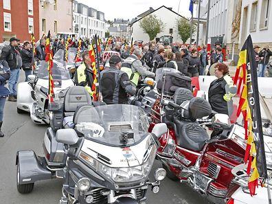 Motorrad-Fans aus 27 Ländern geben sich an diesem Wochenende in Niederkerschen ein Stelldichein.