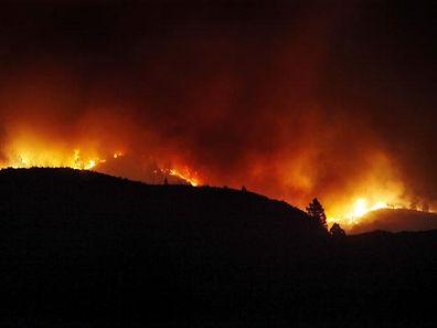Picture of wildfires in Tenerife in 2012