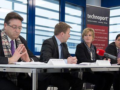 Les nouveaux locaux de Technoport à Foetz ont été inaugurés par les secrétaires d'Etat Francine Closener et Marc Hansen