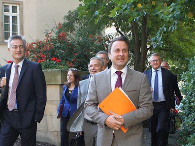 Allein Premierminister Xavier Bettel äußerte sich zur Tripartite.