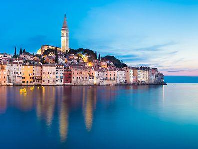 Rovinj, au nord de la Croatie, le long de l'Adriatique