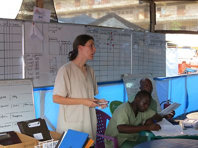 Tessy Fautsch, 34, originally from Bertrange, is pictured in her role as coordinator for Médecins sans Frontières in Conakry, Guinea in 2014 and 2015