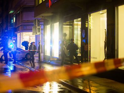 A police cordon outside the Hotel Simoncini in rue Notre Dame, Luxembourg City, on Saturday