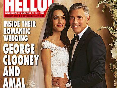 hello! Magazin-Titel mit dem Brautpaar.