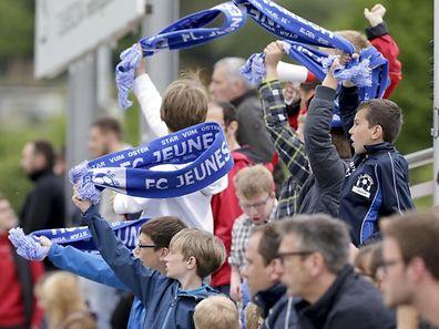 Les supporters de la Jeunesse ont connu une fin de match euphorique.