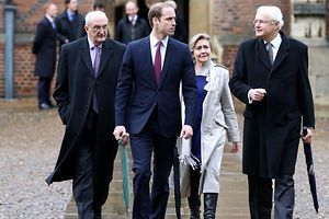 Prinz William an der Uni Cambridge.