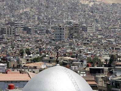 Vue d'un quartier de Damas