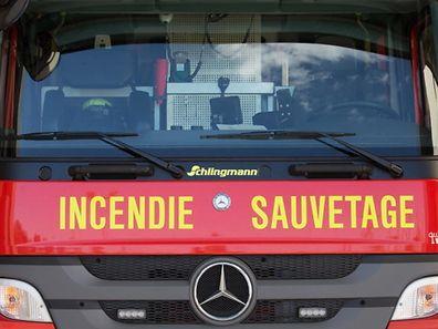 Illustration Pompier, Feuerwehr, Leudelange, Luxembourg, le 21 Juillet 2015. Photo: Chris Karaba