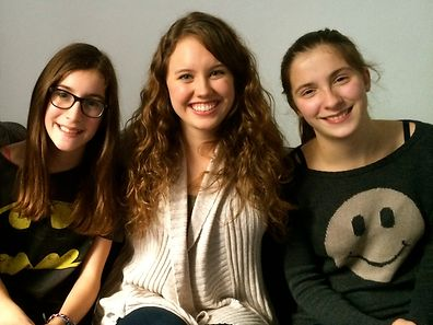 Me (in the middle) and my adorable host sisters Lina (left) and Anna Traversini (right)